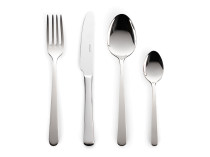 Set 24 pjesësh me lugë, piru dhe thika Delimano